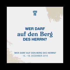 """Logo vom Seminar """"Wer darf auf den Berg des HERNN?"""" im Jeremia-Werk"""